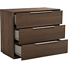 more details on Hygena Bergen 3 Drawer Chest - Walnut Effect.