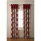 more details on Lauren Eyelet Lined Curtains - 117x183cm - Red.