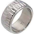 more details on Titanium Patterned Band Ring.