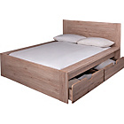 more details on Seattle Kingsize 2 Drawer Storage Bed Frame - Warm Oak.