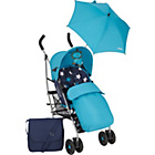 more details on Mamas and Papas Swirl Pushchair Package - Blue.