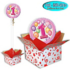 more details on Girls' 1st Birthday Balloon in a Box.