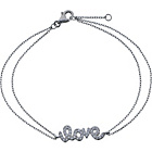 more details on Sterling Silver Cubic Zirconia Love Message Bracelet.