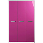 more details on Kids' New Sywell 3 Door Wardrobe - White and Pink Gloss.