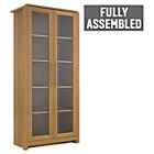 more details on Heart of House Elford 2 Door Display Cabinet - Oak Effect.