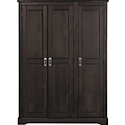 more details on Collection Mendoza Pine 3 Door Wardrobe - Walnut Stain.