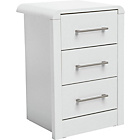 more details on Heart of House Elford 3 Drawer Bedside Chest - White.