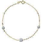 more details on 9ct Gold Crystal Ball Bracelet.