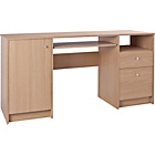 more details on Calgary Double Pedestal Desk with Filer - Oak Effect.