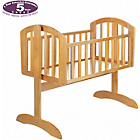 more details on Obaby Sophie Swinging Crib and Mattress - Country Pine.