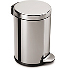 more details on simplehuman 4.5L Round Pedal Bin - Polished Stainless Steel.