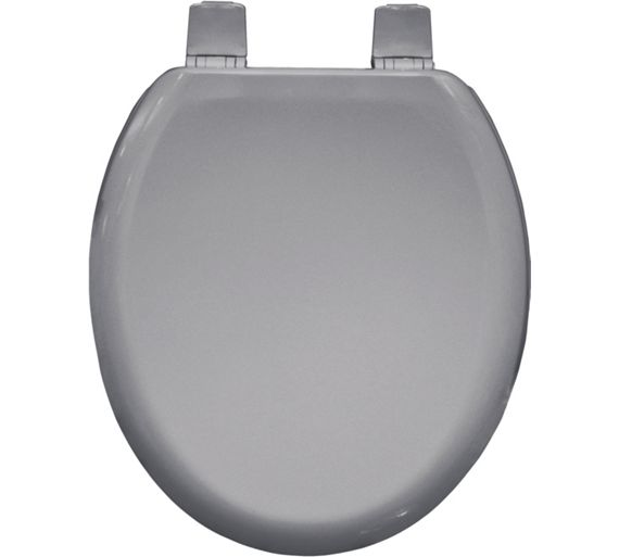 Buy bemis chicago moulded wood toilet seat whisper grey for Grey toilet accessories