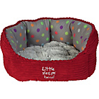 more details on Petface Small Puppy and Kitten Oval Pet Bed - Red.
