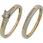 more details on Made for You 9ct Gold 0.50ct Diamond Bridal Ring Set - W.