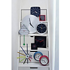 more details on Habitat Weather Wall Clock with Thermometer - Steel.