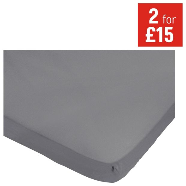 buy heart of house dove grey fitted sheet single at. Black Bedroom Furniture Sets. Home Design Ideas