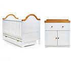 more details on Obaby B is for Bear 2 Piece Furniture Set - White/Pine Trim.