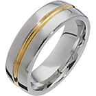 more details on Stainless Steel Two-Tone Polished Band Ring.