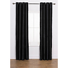 more details on Ava Faux Silk Curtains 228x228cm - Black.
