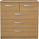 more details on New Hallingford 3+2 Drawer Chest - Oak Effect.