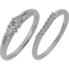 more details on Made For You 9ct White Gold 0.50ct Diamond Ring Set - V