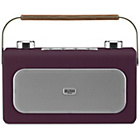 more details on Bush Leather DAB/FM Radio - Aubergine.