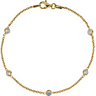 more details on 9ct Gold Plated Sterling Silver 5 Crystals Bracelet.