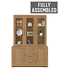 more details on Heart of House Elford 3 Door Display Cabinet - Oak Effect.