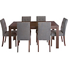 more details on Adaline Walnut Extendable Dining Table and 6 Chairs.