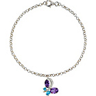 more details on Sterling Silver Cubic Zirconia Butterfly Charm Bracelet.