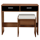 more details on New Sywell Dressing Table and Stool - Walnut Effect & Black.