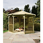 more details on Grange Fencing Regis Octagonal Garden Gazebo Dressed C.