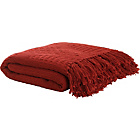 more details on HOME Diamond Cotton Throw - Red.