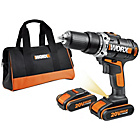 more details on Worx 20V Cordless Hammer Drill with 2 Batteries.