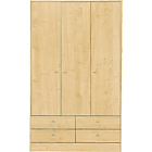 more details on New Malibu 3 Door 4 Drawer Wardrobe - Maple Effect.