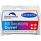 more details on Dreamland All Seasons 4.5 + 10.5 Tog 3-in-1 Duvet - Double.