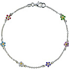 more details on Sterling Silver Enamel Flower Bracelet.