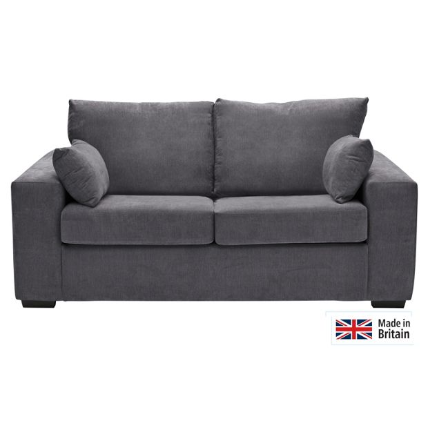 Buy heart of house eton fabric sofa bed charcoal at for Sofa bed argos
