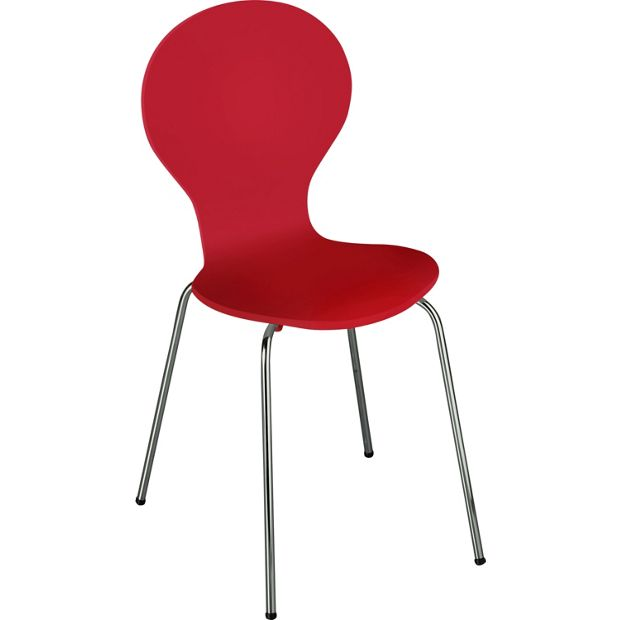 Buy colourmatch poppy red bentwood dining chair at argos for Chair cushion covers argos
