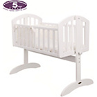 more details on Obaby Sophie Swinging Crib, Mattress and Cream Set - White.