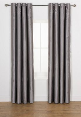 Ava Faux Silk Curtains Xcm Dove Grey