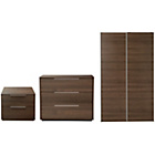 more details on Hygena Bergen 3 Piece Wardrobe Package-Walnut Effect