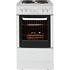 more details on Bush BES50W Electric Cooker- White/Ins/Del/Rec.