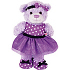 more details on Chad Valley Design-a-Bear Purple Prom Dress Outfit.