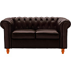 more details on Heart of House Chesterfield Regular Leather Sofa - Brown.