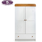 more details on Obaby B is for Bear Double Wardrobe - White with Pine Trim.