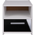 more details on Kids' New Sywell 1 Drawer Bedside Cabinet - White/Black.