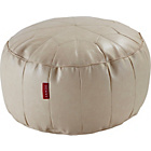 more details on HOME Moroccan Leather Effect Footstool - Cream.