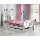 more details on Daisy Sleigh Storage Single Bed Frame - White.