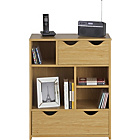 more details on Ashley Multifunctional Shelf/Drawer Storage Unit-Oak Effect.